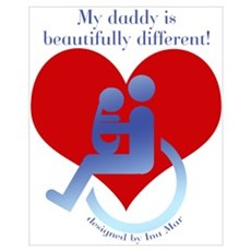 My Disabled Daddy Canvas Art